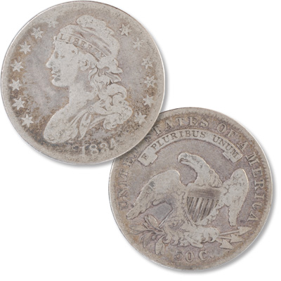 Image for 1834 Capped Bust Half Dollar from Littleton Coin Company