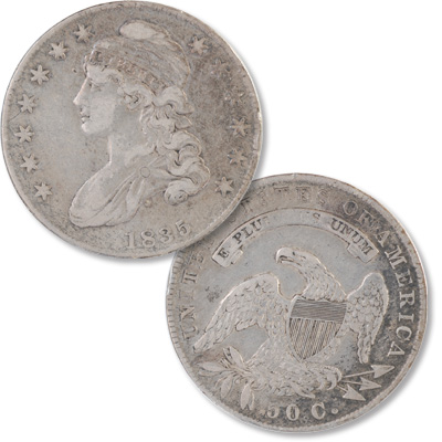 Image for 1835 Capped Bust Silver Half Dollar from Littleton Coin Company