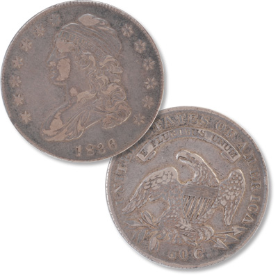 Image for 1836 Capped Bust Silver Half Dollar, Lettered Edge from Littleton Coin Company