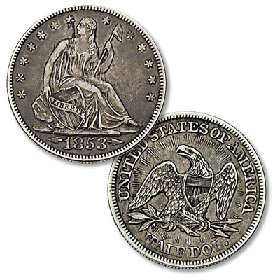 Image for 1853 Liberty Seated Half Dollar, Arrows & Rays from Littleton Coin Company