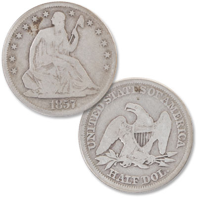 Image for 1857 Liberty Seated Half Dollar from Littleton Coin Company
