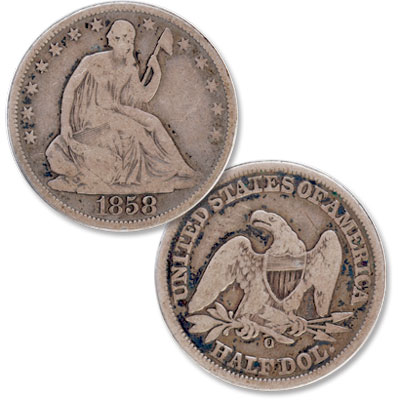 Image for 1858-O Liberty Seated Half Dollar from Littleton Coin Company
