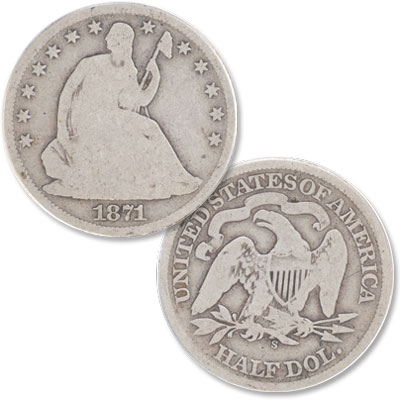 Image for 1871-S Liberty Seated Half Dollar from Littleton Coin Company