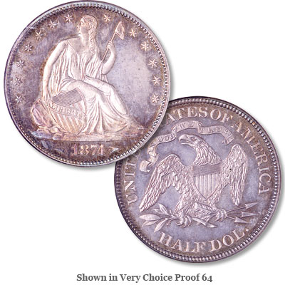 Image for 1874 Liberty Seated Half Dollar, Arrows from Littleton Coin Company