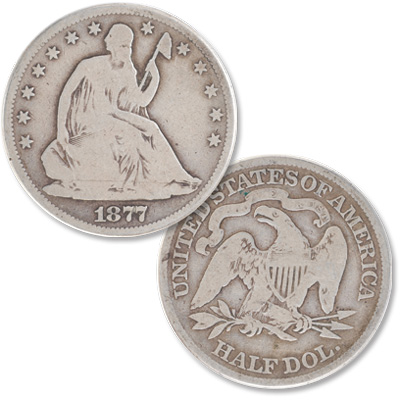 Image for 1877 Liberty Seated Half Dollar from Littleton Coin Company