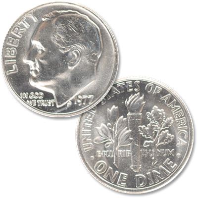Image for 1977 Roosevelt Dime from Littleton Coin Company
