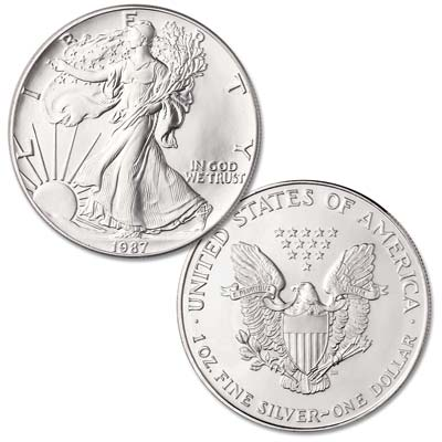 Image for 1987 $1 Silver American Eagle from Littleton Coin Company