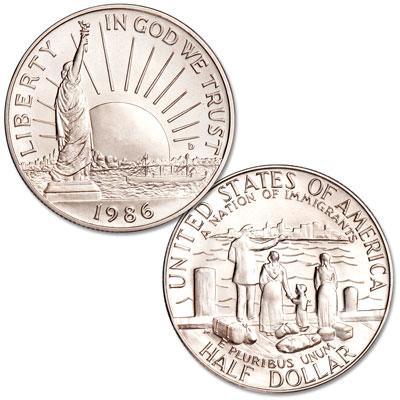Image for 1986-D Statue of Liberty Clad Half Dollar from Littleton Coin Company