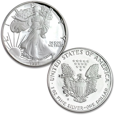 Image for 1987-S $1 Silver American Eagle, Choice Proof, PR63 from Littleton Coin Company