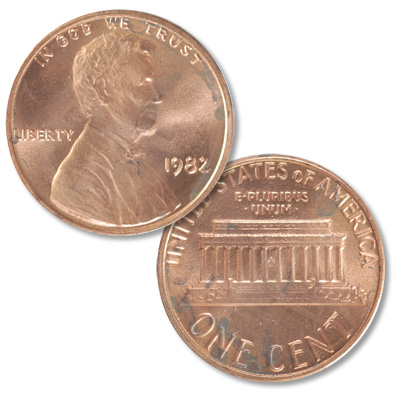 Image for 1982 Lincoln Head Cent, Large Date, Zinc from Littleton Coin Company