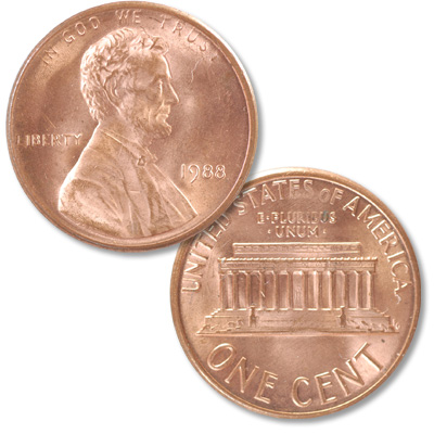 Image for 1988 Lincoln Head Cent from Littleton Coin Company