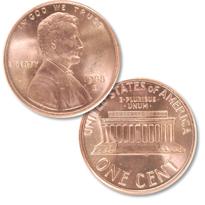 Image for 1988-D Lincoln Head Cent from Littleton Coin Company