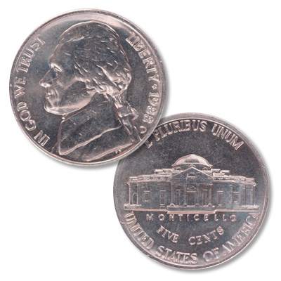 Image for 1988-D Jefferson Nickel from Littleton Coin Company