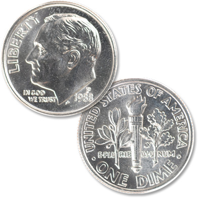 Image for 1988-P Roosevelt Dime from Littleton Coin Company
