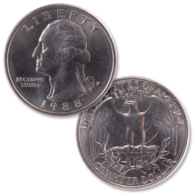 Image for 1988 Washington Quarter from Littleton Coin Company