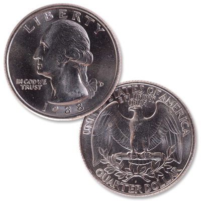 Image for 1988-D Washington Quarter from Littleton Coin Company
