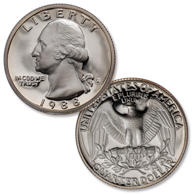 Image for 1988-S Washington Quarter from Littleton Coin Company