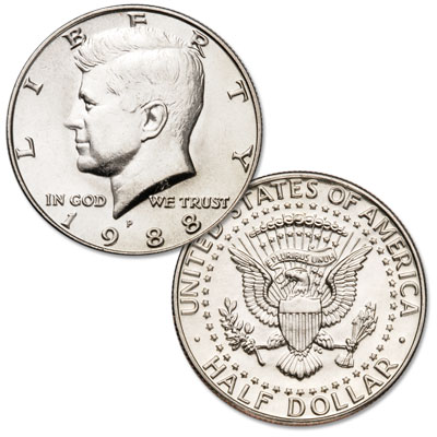 Image for 1988-P Kennedy Half Dollar from Littleton Coin Company