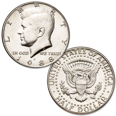 Image for 1988-D Kennedy Half Dollar from Littleton Coin Company