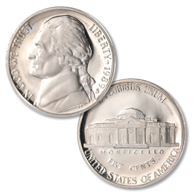 Image for 1989-S Jefferson Nickel Proof from Littleton Coin Company