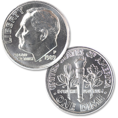 Image for 1989-P Roosevelt Dime from Littleton Coin Company