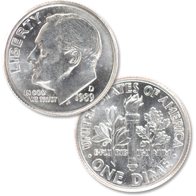 Image for 1989-D Roosevelt Dime from Littleton Coin Company