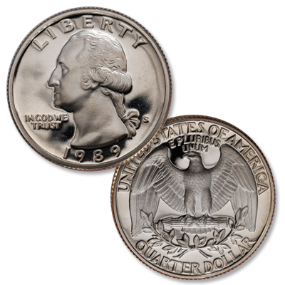 Image for 1989-S Washington Quarter from Littleton Coin Company