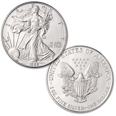Image for 1988 $1 Silver American Eagle from Littleton Coin Company
