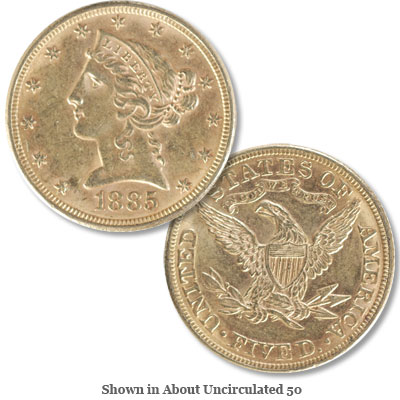 Image for 1885 Liberty Head $5 Gold from Littleton Coin Company