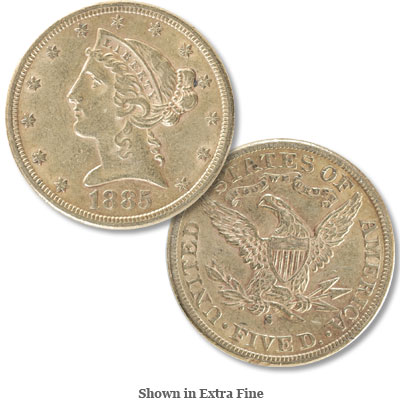 Image for 1885-S Liberty Head $5 Gold from Littleton Coin Company