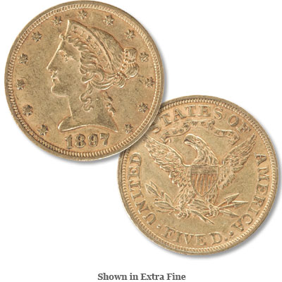 Image for 1897 Liberty Head $5 Gold from Littleton Coin Company