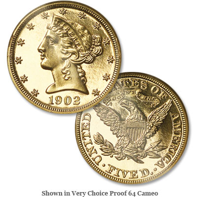 Image for 1902 Liberty Head $5 Gold from Littleton Coin Company