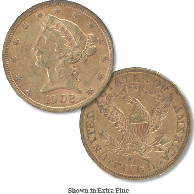 Image for 1902-S Liberty Head $5 Gold from Littleton Coin Company