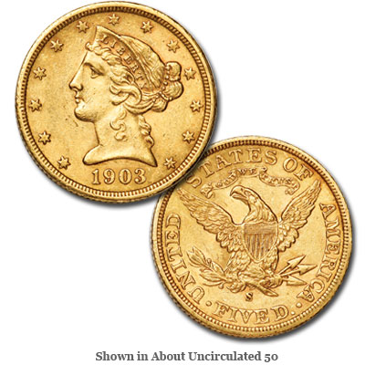 Image for 1903-S Liberty Head $5 Gold from Littleton Coin Company