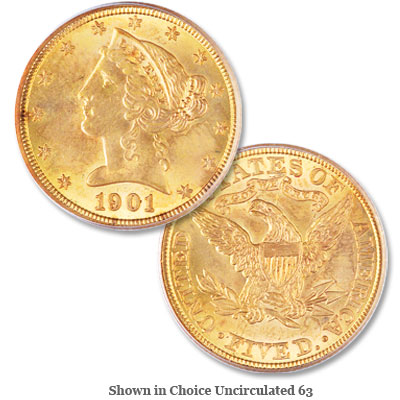 Image for 1901 Liberty Head $5 Gold from Littleton Coin Company