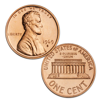 Image for 1969-S Lincoln Head Cent, Choice Proof, PR63 from Littleton Coin Company