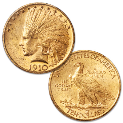 Image for 1910 Indian Head $10 Gold from Littleton Coin Company
