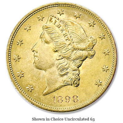 Image for 1898-S Liberty Head $20 Gold from Littleton Coin Company