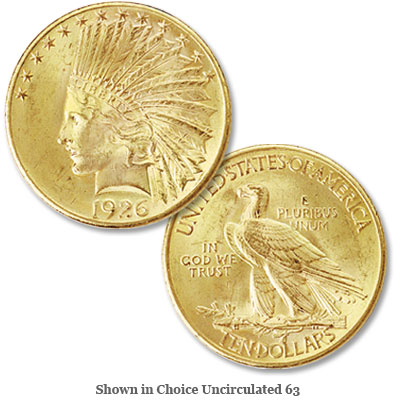 Image for 1926 Indian Head $10 gold from Littleton Coin Company