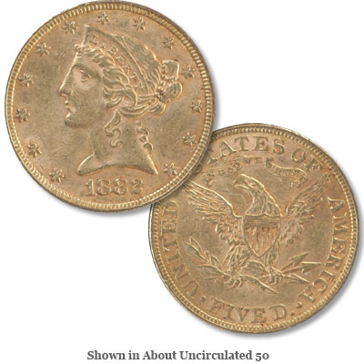 Image for 1882 Liberty Head $5 Gold from Littleton Coin Company