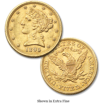 Image for 1895 Liberty Head $5 Gold from Littleton Coin Company