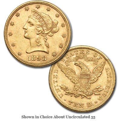 Image for 1898 Liberty Head $10 Gold from Littleton Coin Company