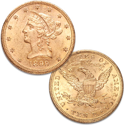 Image for 1899 Liberty Head $10 Gold from Littleton Coin Company