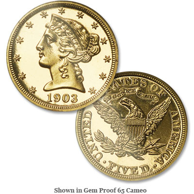 Image for 1903 Liberty Head $5 Gold from Littleton Coin Company