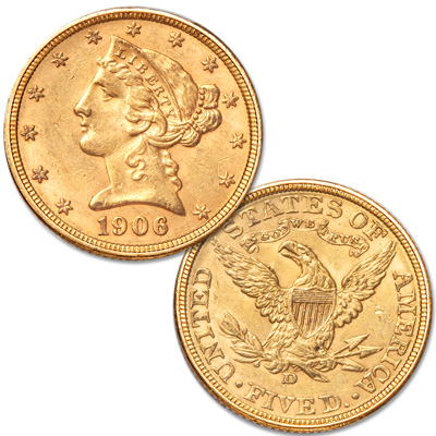 Image for 1906-D Liberty Head $5 Gold from Littleton Coin Company