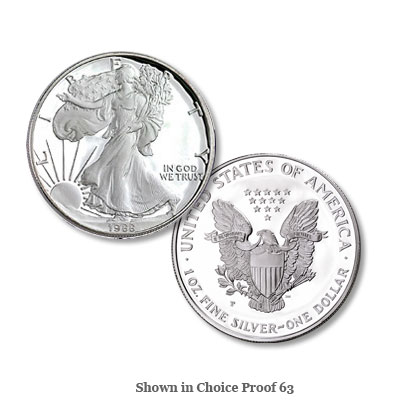 Image for 1988-S $1 Silver American Eagle, Choice Proof, PR63 from Littleton Coin Company