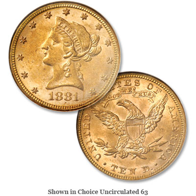 Image for 1881 Liberty Head $10 Gold from Littleton Coin Company