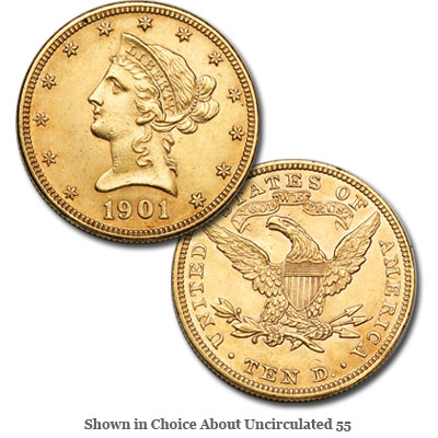 Image for 1901 Liberty Head $10 Gold Eagle from Littleton Coin Company
