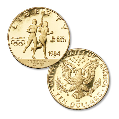 Image for 1984-W Los Angeles Olympiad Gold $10 from Littleton Coin Company