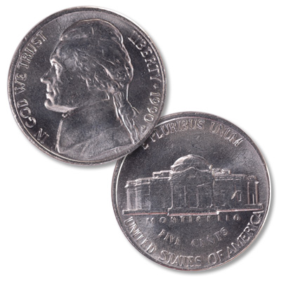 Image for 1990-P Jefferson Nickel from Littleton Coin Company